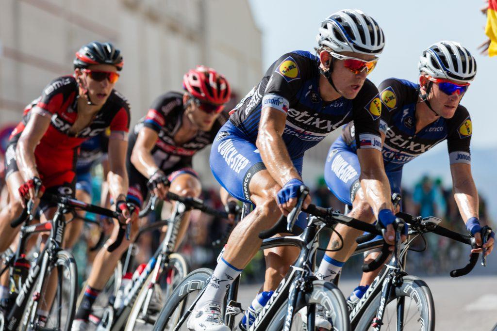 Durchtrainierte Radfahrer Sportlich